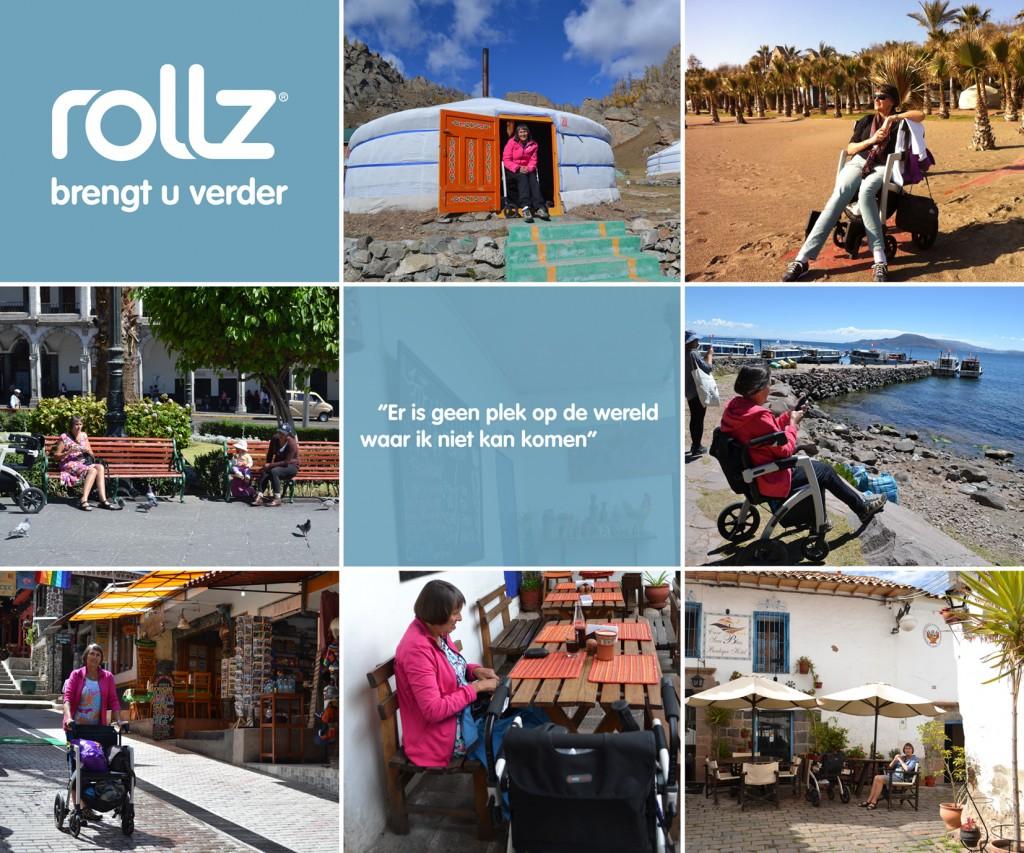 Op vakantie met de Rollz Motion rollator kun je overal komen