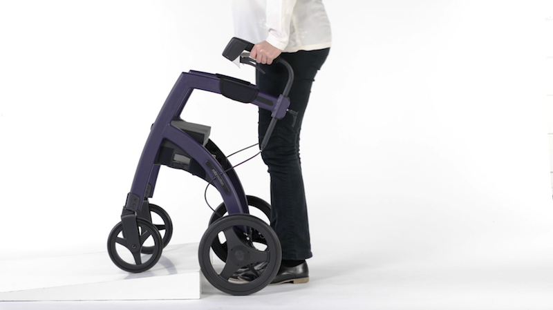 Rollz Motion rollator going over curbs