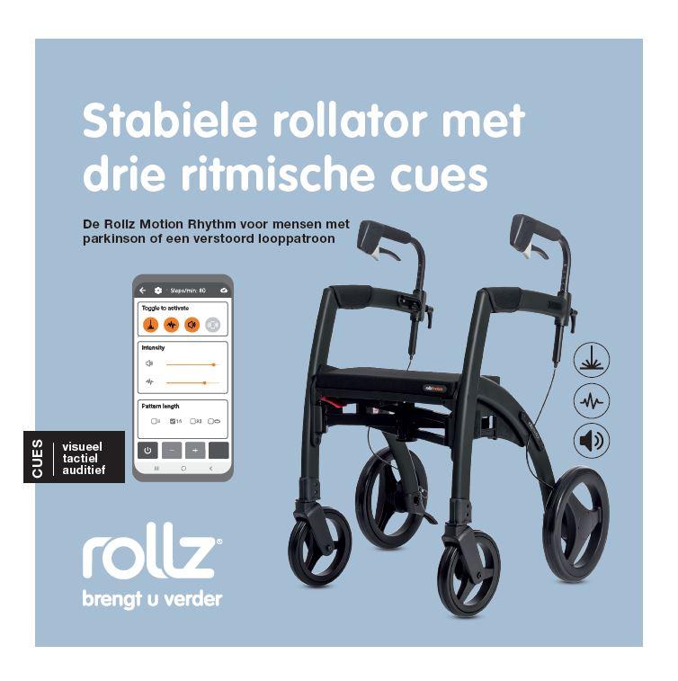 Rollz Motion Rhythm parkinsonrollator met drie ritmische cues