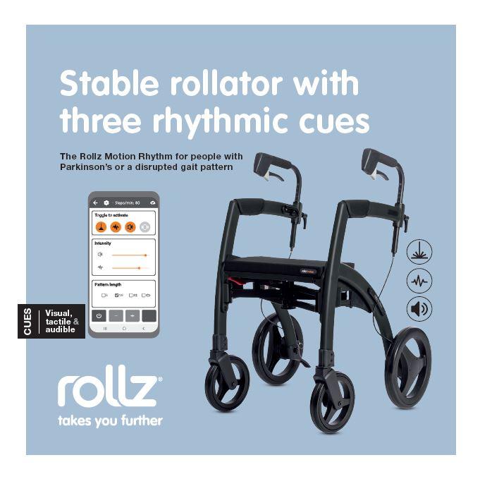 Rollz Motion Rhythm parkinson rollator, EN