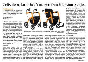Zelfs de rollator heeft nu een Dutch Design, De Pers 2011