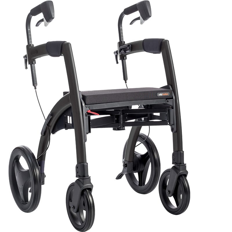 Black Rollz Motion Rhythm rollator with module