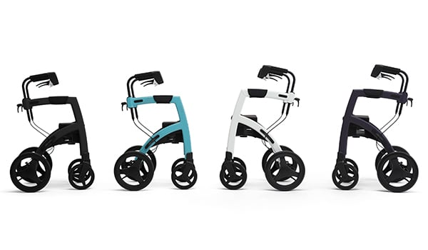 Rollz Motion rollators in four colors