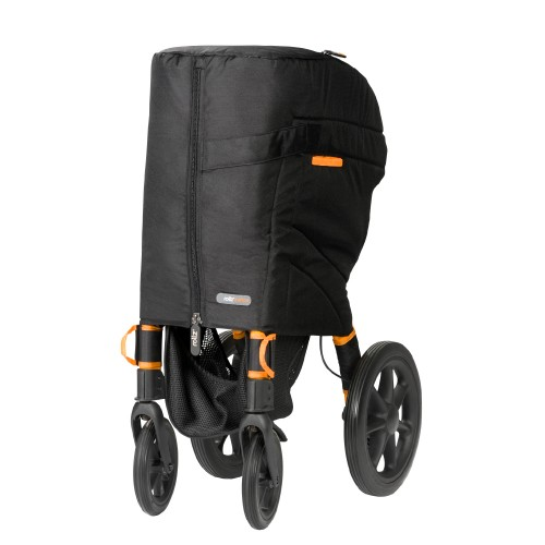 Rollz Motion rollator and wheelchair protected by travelcover