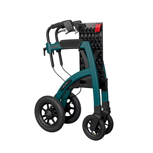 Rollz Motion Performance rollator with air tyres folded