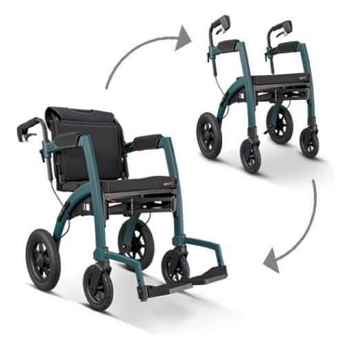 Rollz Motion Performance rollator and wheelchair with air tyres