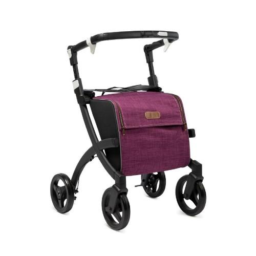 Rollz Flex flip brake, matt black frame, bright purple bag, regular size