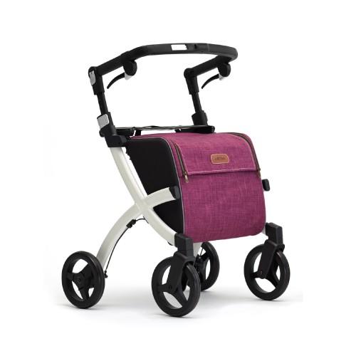Rollz Flex classic brake, white frame, bright purple bag, regular size