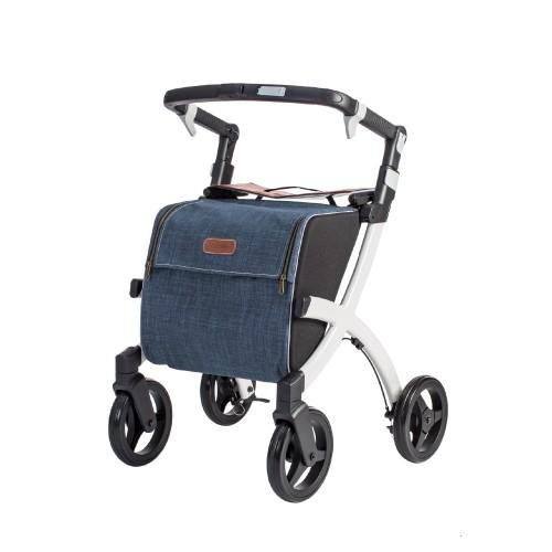Rollz Flex flip brake, white frame, denim grey bag, regular size
