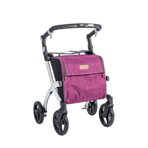 Rollz Flex flip brake, white frame, bright purple bag, regular size