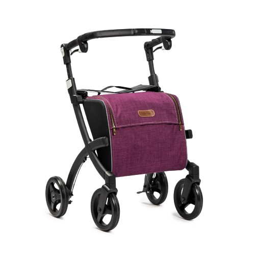 Rollz Flex classic brake, matt black frame, bright purple bag, regular size