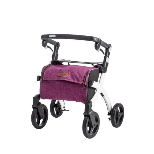Rollz Flex classic brake, white frame, bright purple bag, small size
