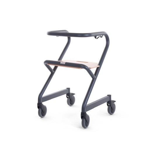 Saljol Page indoor rollator Anthracite side view
