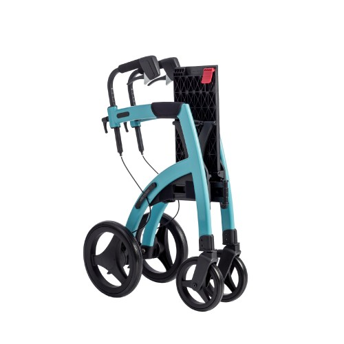 The Rollz Motion Island Blue rollator folded