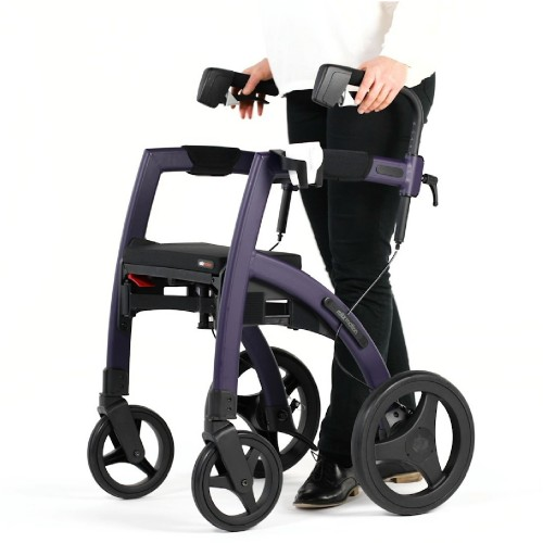 Cup holder attached to the frame of a Rollz Motion rollator