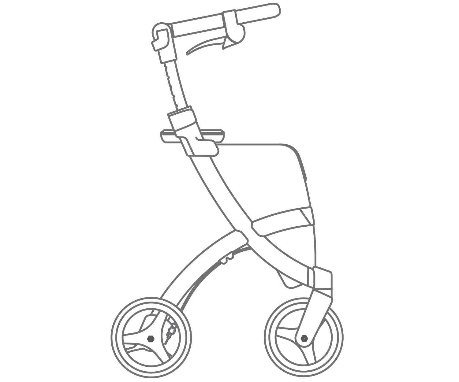 Drawing of the Rollz Flex classic brake