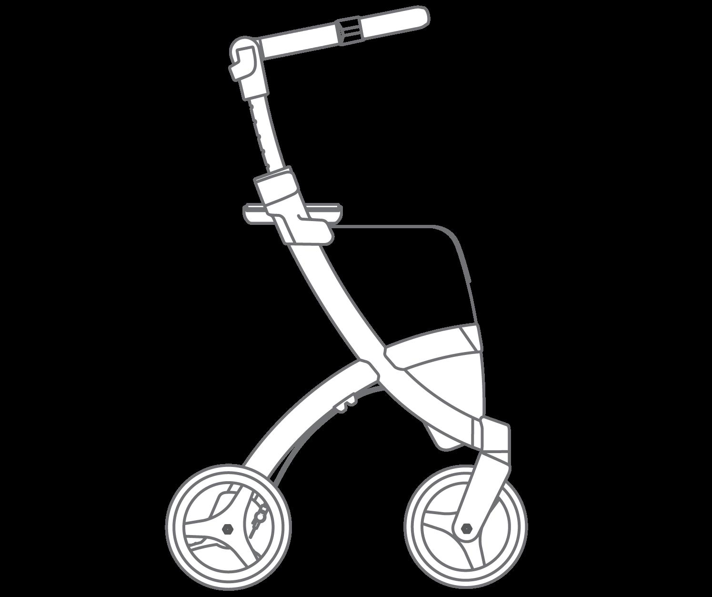 Drawing of the Rollz Flex flip brake