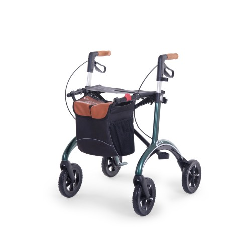 Saljol carbon rollator regular size in green color