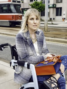 Woman with multiple sclerosis sitting in a Rollz Motion wheelchair