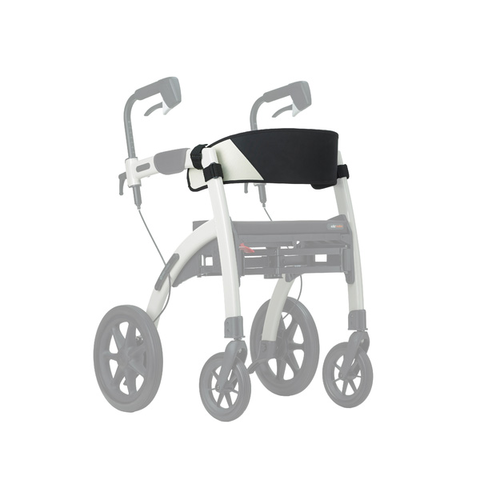 Back support assembled on the Rollz Motion rollator